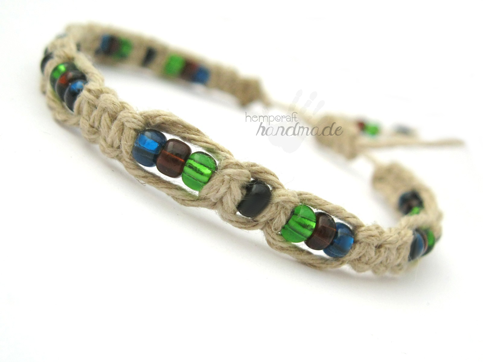 Earth Colors Macrame Hemp Bracelet -