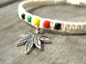 white rasta bracelet with charm (2)
