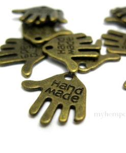 handmade charms, bronze