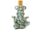 Raku Sitting Ganesh Bottle Pendant