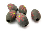 clay flower beads HempCraft