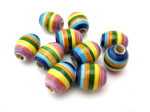 oval clay rainbow beads HempCraft (1)