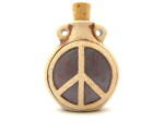 peace sign bottle pendant