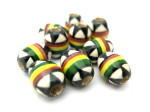 rasta oval stripe beads HempCraft