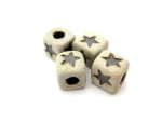 star cube beads, ceramic, HempCraft - website
