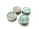 Tiny Ceramic peace beads HempCraft