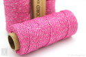 Sparkly Pink Metallic Hemp Cord