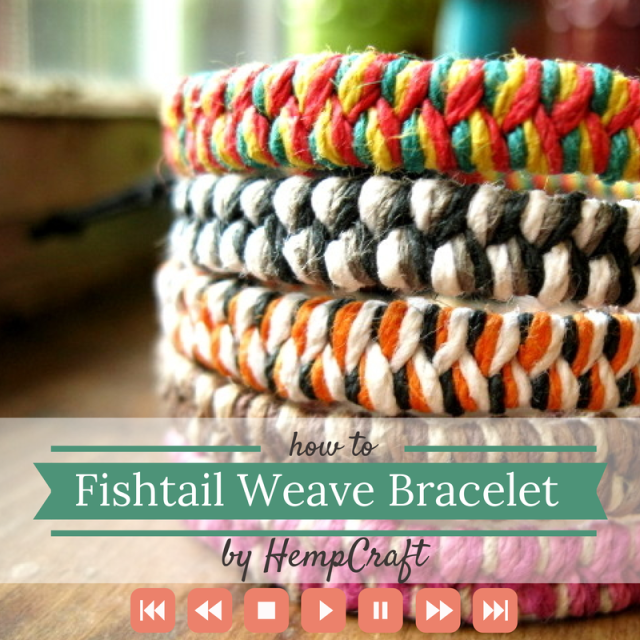 How to make a woven hemp bracelet