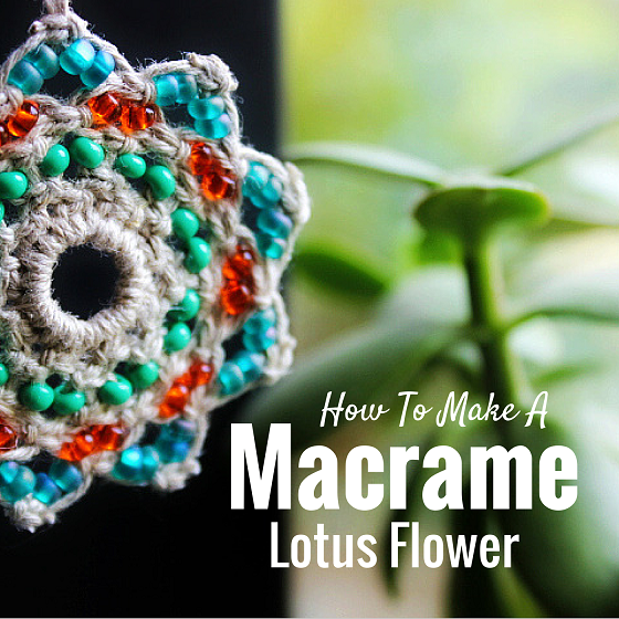 macrame tutorial flower
