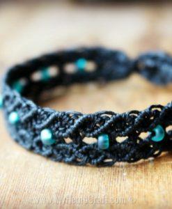 micromacrame black bracelet (2)