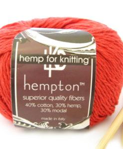 coral hemp yarn