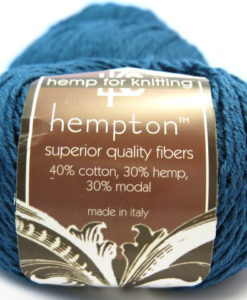 blue hemp yarn