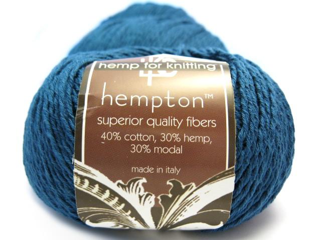 Modal Knitting Yarn : Indigo blue hemp yarn cotton modal blend
