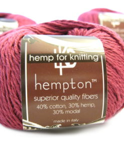 fuchsia pink hemp yarn