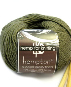 olive green hemp yarn