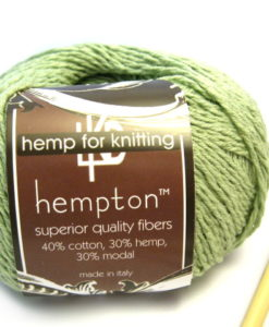 sage green hemp yarn
