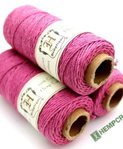 Pink 1mm hemp cord