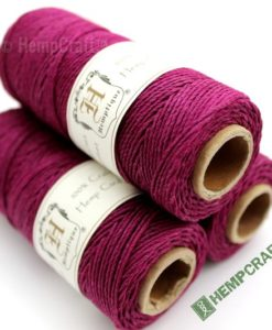 Magenta Dyed Hemp Cord, Colored Hemp Twine, HempCraft (42)