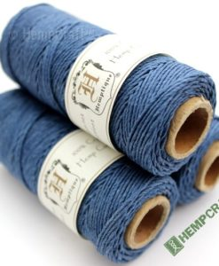 Vintage Blue Dyed Hemp Cord, Colored Hemp Twine, HempCraft (44)