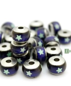 Glow in dark stars mood beads