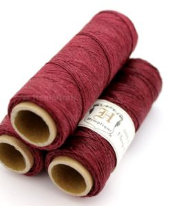 cranberry red hemp twine