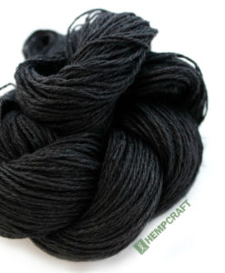100% Premium black hemp yarn!