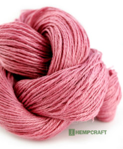 100% Premium Pink hemp yarn!