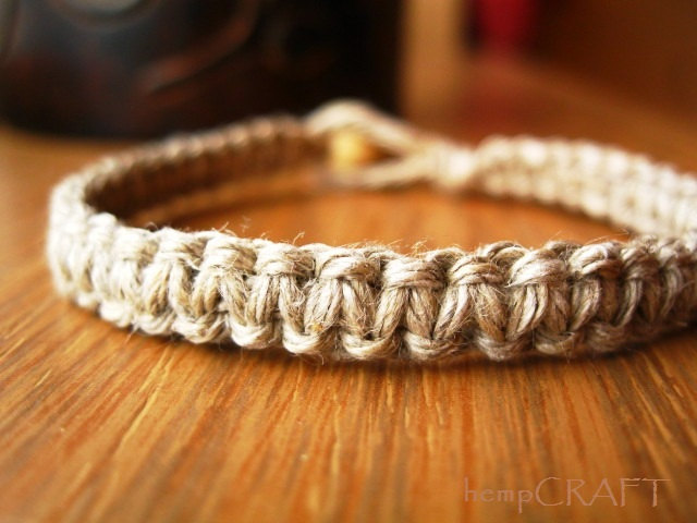 Natural Hemp Bracelet Macrame Bracelet For Men And Women