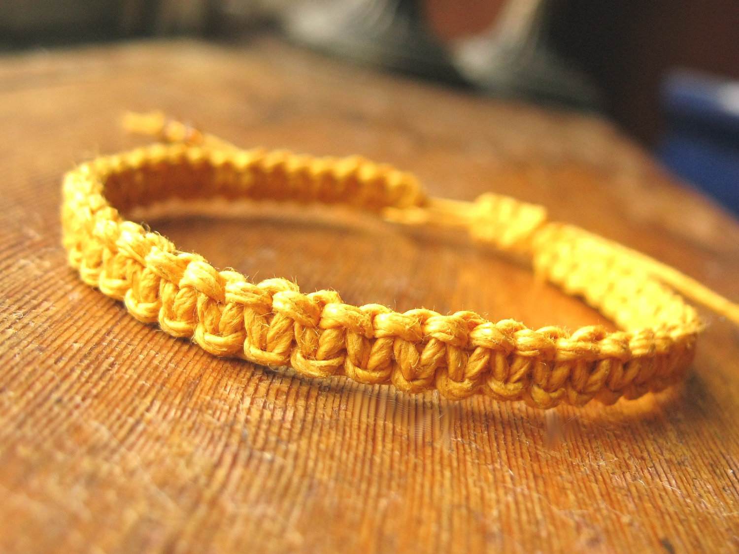 Yellow Hemp Bracelet