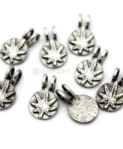 Cannabis leaf charms (5)