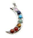 crescent moon gemstone pendant