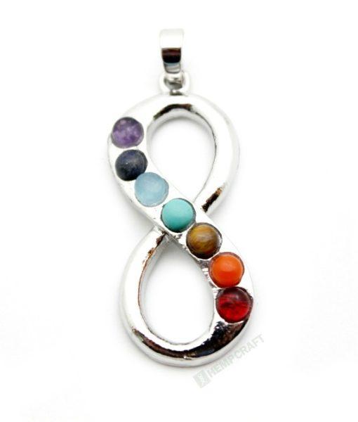 Infinity gemstone chakra pendant