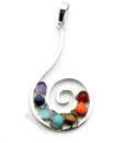 Swirl gemstone pendant
