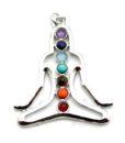 yoga chakra gemstone pendant