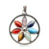 flower gemstone pendant