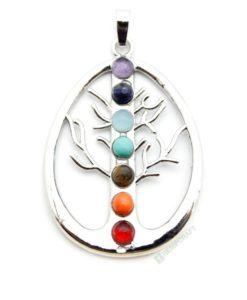 tree of life gemstone chakra pendant