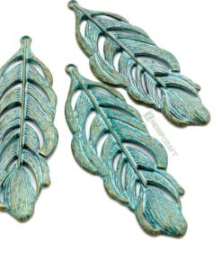 large feather pendants (2)
