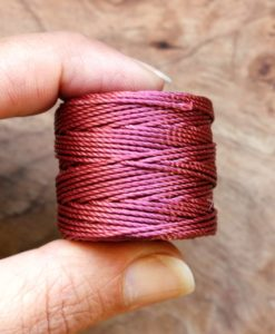 Wine Red S-Lon Nylon Jewelry Cord